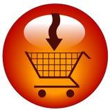 Agregue al icono del carro Imagen de archivo libre de regalías