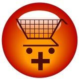 Agregue al icono del carro de compras stock de ilustración