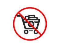 Agregue al icono del carro de compras Compra en l?nea Vector stock de ilustración