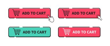 Agregue al icono del carro Icono del carro de compras Ilustraci?n del vector stock de ilustración