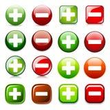 Agregue la cancelación o muestre los botones del color de la piel stock de ilustración