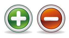 agregue y reste el icono stock de ilustración