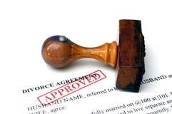 Agrement di divorzio Fotografia Stock Libera da Diritti