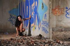 agresivnaya kobieta Fotografia Stock