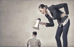 Agresja i upokorzenie w komunikaci Zdjęcia Stock