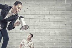 Agresja i upokorzenie w komunikaci Zdjęcie Royalty Free