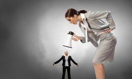 Agresja i upokorzenie w komunikaci Zdjęcie Stock