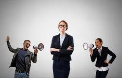 Agresja i upokorzenie w komunikaci Obraz Stock