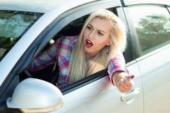 Agresja na drodze, przysięga Zdjęcie Stock