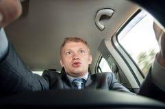 Agresja za kołem kierowca zaskakuje Zdjęcie Stock