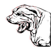 Agressieve hond Stock Foto's