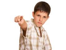 Agressieve jongen stock foto