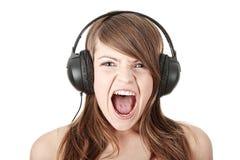 Agressieve muziek stock afbeelding