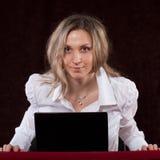 Agressieve secretaresse Stock Foto