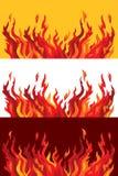 Agressieve tongen van vlam. stock foto
