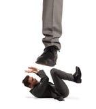 Agressieve werkgever Het concept van Mobbing royalty-vrije stock foto