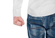 Agressionbegrepp för ung man Arkivbild