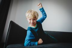 Agressive angry conflict boy stress bullying, prepare to fight. Stress stock photos