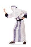Agressive arab man isolated on white Stock Images