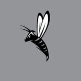 Agressive bee or wasp mascot vector design Royalty Free Stock Image