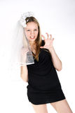 Agressive bride Stock Photo