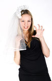 Agressive bride Stock Images