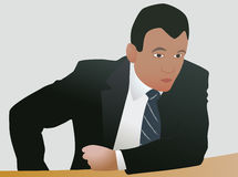 Agressive businessman in decision. Agressive businessman make strong agressive decision Royalty Free Stock Image