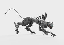 Agressive metal nano panther steals Royalty Free Stock Images