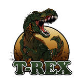 Agressive t rex illustration Stock Photography