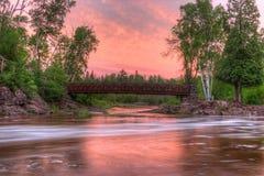 Agrest Spada stanu park na Minnestoa ` s Północnym brzeg Jeziorny przełożony w lecie Zdjęcia Stock