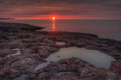 Agrest Spada stanu park na Minnestoa ` s Północnym brzeg Jeziorny przełożony w lecie Obraz Royalty Free