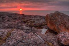 Agrest Spada stanu park na Minnestoa ` s Północnym brzeg Jeziorny przełożony w lecie Zdjęcie Stock