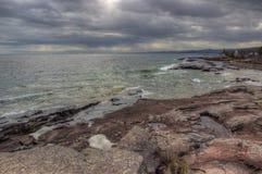 Agrest Spada stanu park na Minnestoa ` s Północnym brzeg Jeziorny przełożony w lecie Fotografia Royalty Free