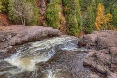 Agrest Spada stanu park w Minnestoa podczas jesieni na Północnym brzeg Jeziorny przełożony Fotografia Stock