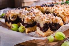 Agresta czekoladowy tort obraz royalty free