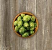 Agrestowa owoc na drewnianym tle Fotografia Royalty Free