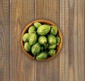 Agrestowa owoc na drewnianym tle Fotografia Stock