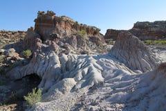 Agrestowi zatoczek badlands, Wyoming Zdjęcia Stock