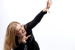 agresyjna blond kobieta Zdjęcia Royalty Free