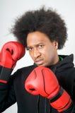 agresyjny czarny bokser Obrazy Royalty Free