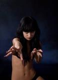 agresywna dziewczyna Obraz Stock