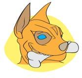 agresywna kości psa ilustracja szalenie Zdjęcia Royalty Free