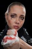 agresywna kobieta Zdjęcie Stock
