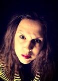 Agresywna kobieta Zdjęcie Royalty Free