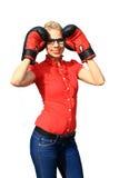 agresywna kobieta jednostek gospodarczych Zdjęcia Royalty Free