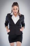 Agresywna Korporacyjna kobieta Przygotowywająca Robić biznesowi Zdjęcia Royalty Free