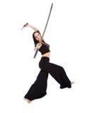 agresywna piękna postury sw kobieta Fotografia Stock