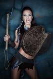 Agresywna średniowieczna kobieta Obrazy Royalty Free