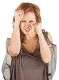 Agresywna Rewolucjonistki Głowy Kobieta Fotografia Royalty Free
