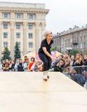 Agresywna rollerblading rywalizacja Zdjęcie Royalty Free